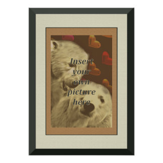 Bear Pride Flag Frame Gay Wedding Gift Poster
