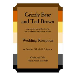 Bear Pride Flag Gold Gay Reception Invitation