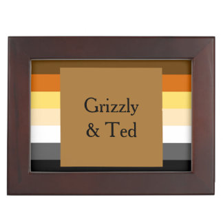 Bear Pride Flag Gold Gift Box Keepsake Box