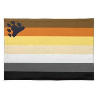 Bear Pride Flag Placemat for Gay Men