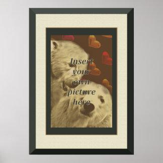Bear Pride Frame Poster Wedding Gift for Gay Men