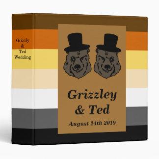 Bear Pride Gay Wedding Album Vinyl Binder