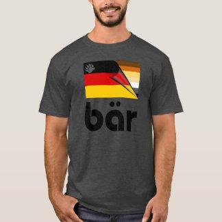 Bear Pride German Flag Bär (Black) T-Shirt