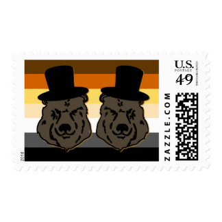 Bear Pride Grooms Gay WeddingStamp Postage