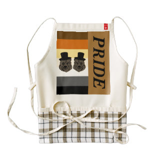 Bear Pride Heart Apron with Gay Grooms