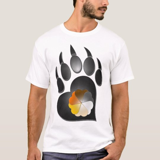 Bear Pride Heart Paw Shirt