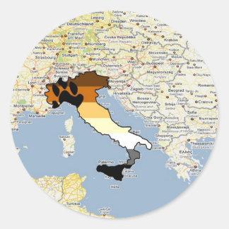 Bear Pride Italy Classic Round Sticker