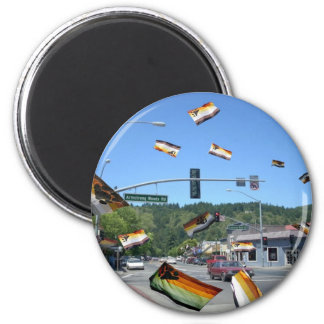 Bear Pride Over Guerneville/Russian River Magnet