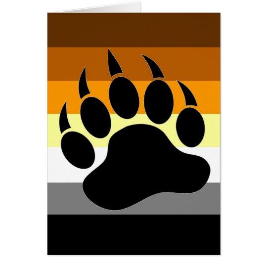 Bear Pride Paw Card
