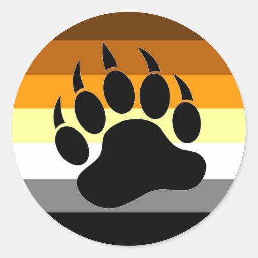 Bear Pride Paw Classic Round Sticker