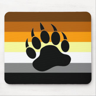 Bear Pride Paw Mouse Pad