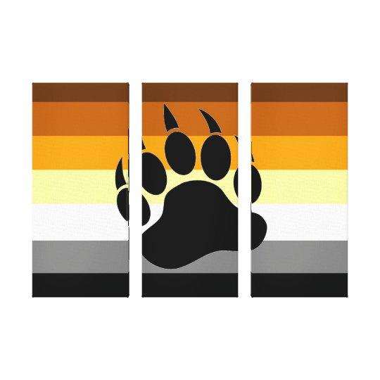 Bear Pride Paw on Triple Canvas