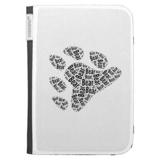 BEAR PRIDE PAW PATTERN BLACK KINDLE COVER