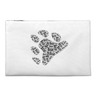 BEAR PRIDE PAW PATTERN BLACK TRAVEL ACCESSORY BAGS