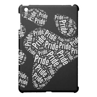 BEAR PRIDE PAW PATTERN WHITE -.png Cover For The iPad Mini