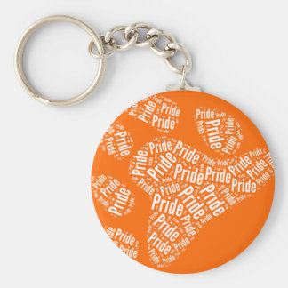 BEAR PRIDE PAW PATTERN WHITE -.png Keychain