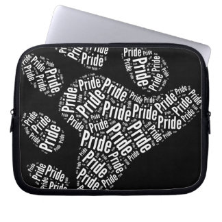 BEAR PRIDE PAW PATTERN WHITE -.png Laptop Computer Sleeve