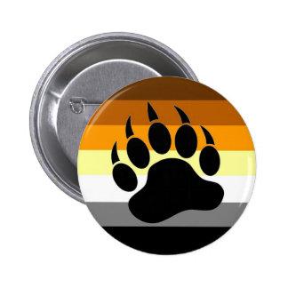 Bear Pride Paw Pinback Button