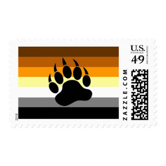 Bear Pride Paw Postage Stamps