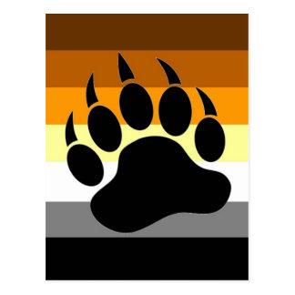 Bear Pride Paw Postcard