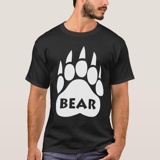 "Bear Pride Paw T-Shirt ""BEAR"" Text"
