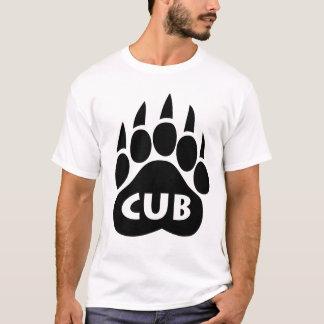 """Bear Pride Paw T-Shirt """"CUB"""" Text"""
