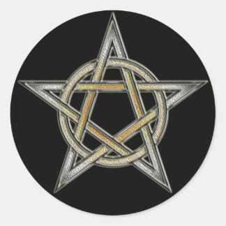 Bear Pride Pentagram circle Interlaced Classic Round Sticker