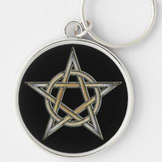 Bear Pride Pentagram circle Interlaced Keychain