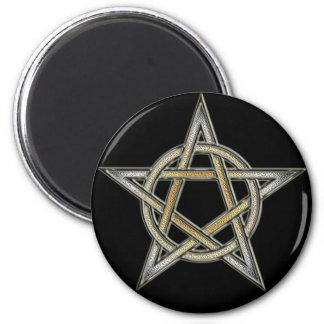 Bear Pride Pentagram circle Interlaced Magnet