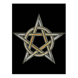 Bear Pride Pentagram circle Interlaced Postcard