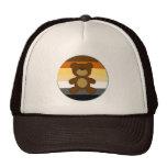Bear Pride Rainbow Flag Circle And Teddy Bear Trucker Hats