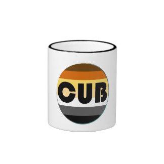 Bear Pride Rainbow Flag Circle Cub Ringer Coffee Mug