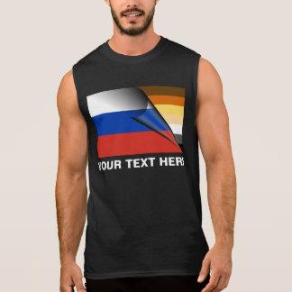 Bear Pride Russian Flag Sleeveless Shirt