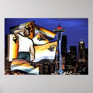 Bear Pride Seattle Poster