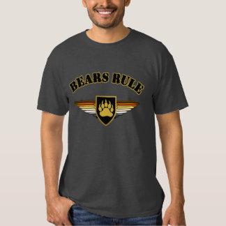 Bear Pride Shield Bear Paw Bears Rule T-shirt