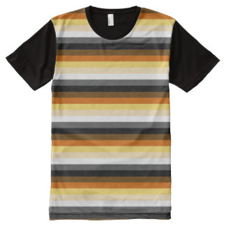BEAR PRIDE STRIPED HORIZONTAL - 2014 PRIDE.png All-Over Print T-shirt