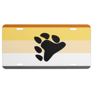 BEAR PRIDE STRIPED PAW HORIZONTAL - 2014 PRIDE.png License Plate