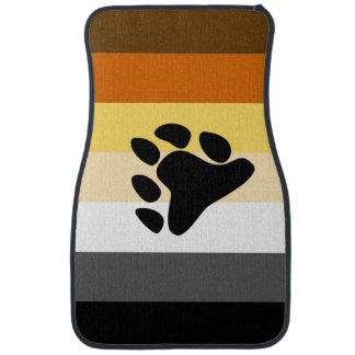 BEAR PRIDE STRIPED PAW HORIZONTAL - 2014 PRIDE.png Floor Mat