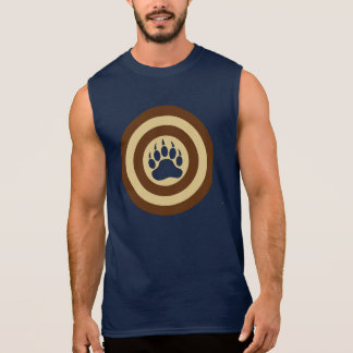 Bear Pride Super Hero Shield Bear Paw Sleeveless Shirt