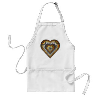 Bear Pride Tribal Heart Adult Apron
