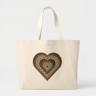 Bear Pride Tribal Heart Large Tote Bag