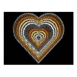 Bear Pride Tribal Heart Postcard