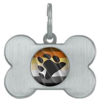 BEAR PRIDE WAVY DESIGN PET TAG