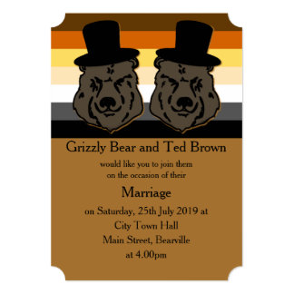 Bear Pride Wedding Invitation
