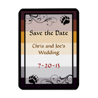 Bear Pride Wedding Save-the-Date Magnets