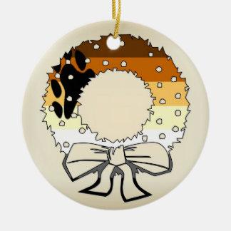 Bear Pride Wreath Ceramic Ornament