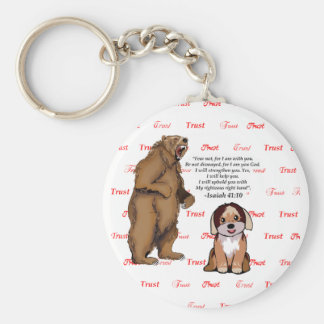 Bear Puppy - Trust - #5 - Faith Red.png Keychain