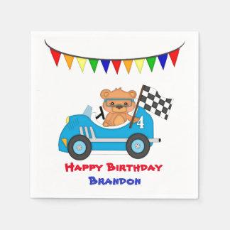 Bear Race Birthday Boy Paper Napkin