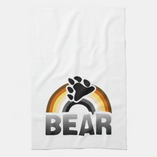 BEAR RAINBOW FLAG HAND TOWELS