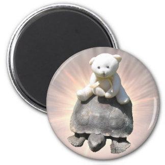 Bear riding Turtle Magnet